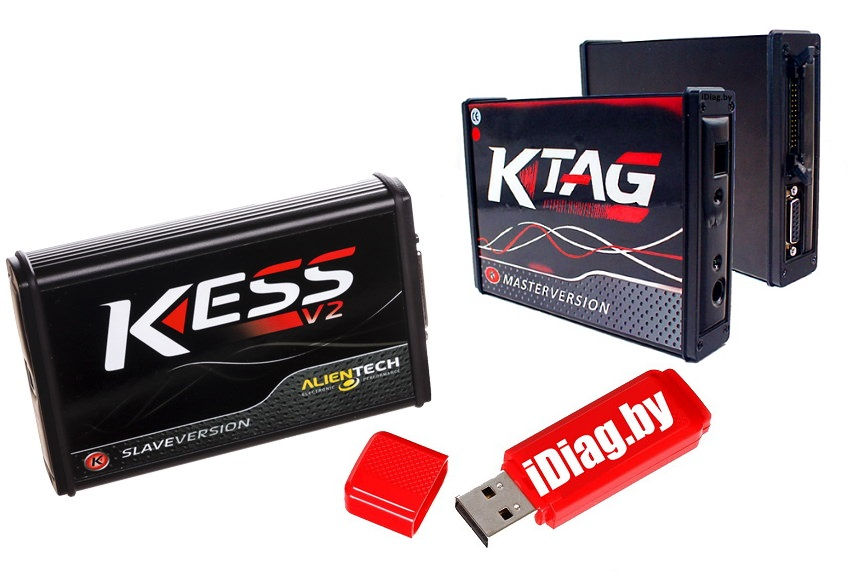 Kess 5.017 RED + K-tag 7.020 + База прошивок